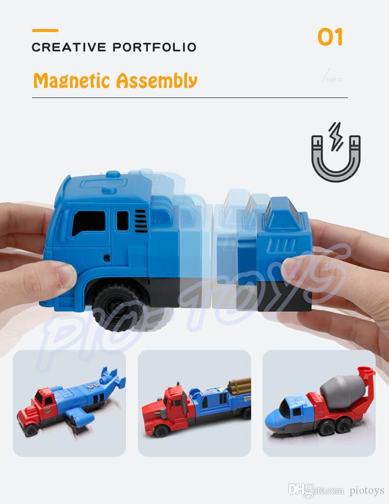 Christmas Gift Engineering Building Model Cars Magnetic Assemble Toys Car Kids Education Learning Game Family Parent-child Interaction