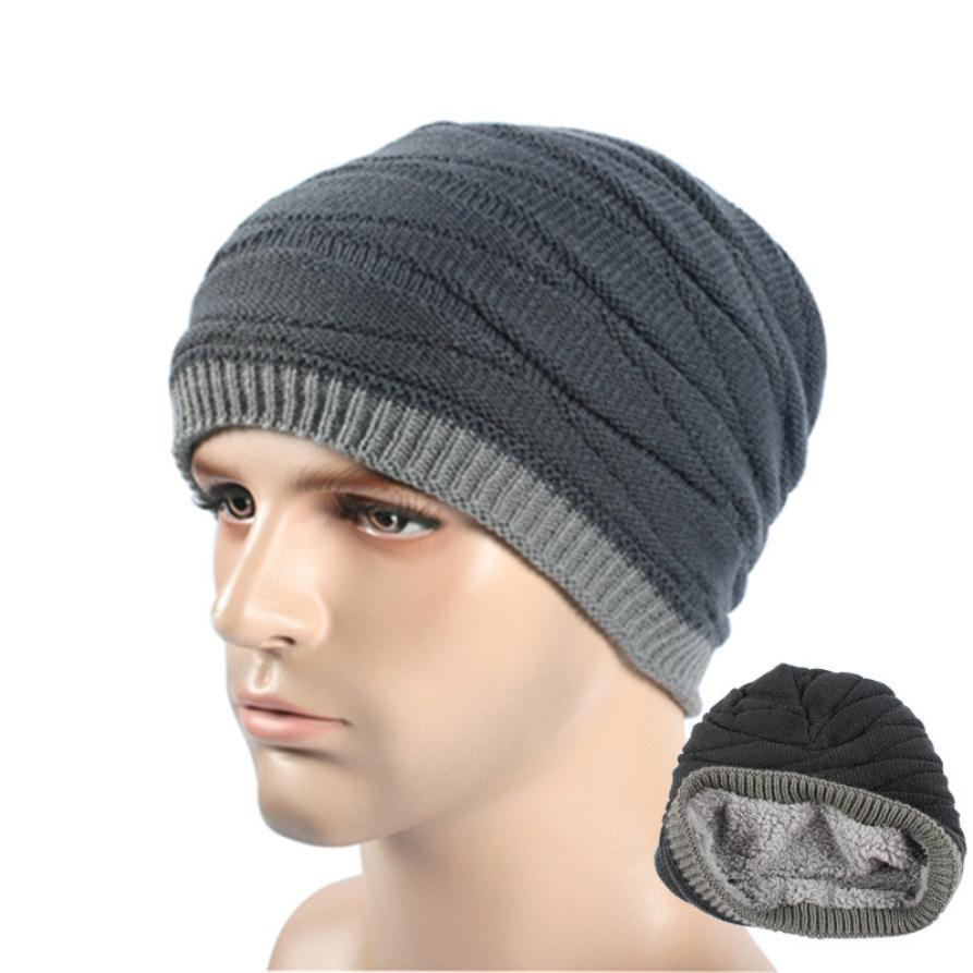 Compre DOUDOULU Winter Keep Warm Unisex Invierno Tejido De Lana Gorro Gorro  De Esquí Hombres Crochet Skull Cap Hat Sombrero De La Gorrita Tejida   WMEW  A ... 2a3f9e1fc18