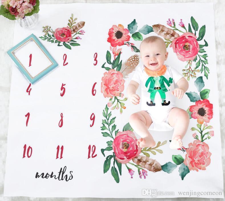 مواليد الطفل بطانية خلفية الجناح مطبوعة بطانية البساط الطفل بطانية أطفال صور الدعائم الأقمشة اكسسوارات التصوير الدعائم 14 تصاميم