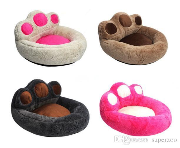 2018 Cute Bear Claw Shape Removable Pet Dog Beds Warming Dog Cat Bed House Nest For Puppy Cat Pets Sofa Mat Cushion S M L From Superzoo 20 1 Dhgate Com