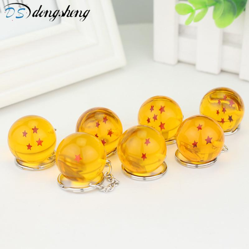 Fashion  Ball Z New In Bag 7 Stars Crystal Balls PVC Figures Toys Keychain Pendant star Complete Set Key-50