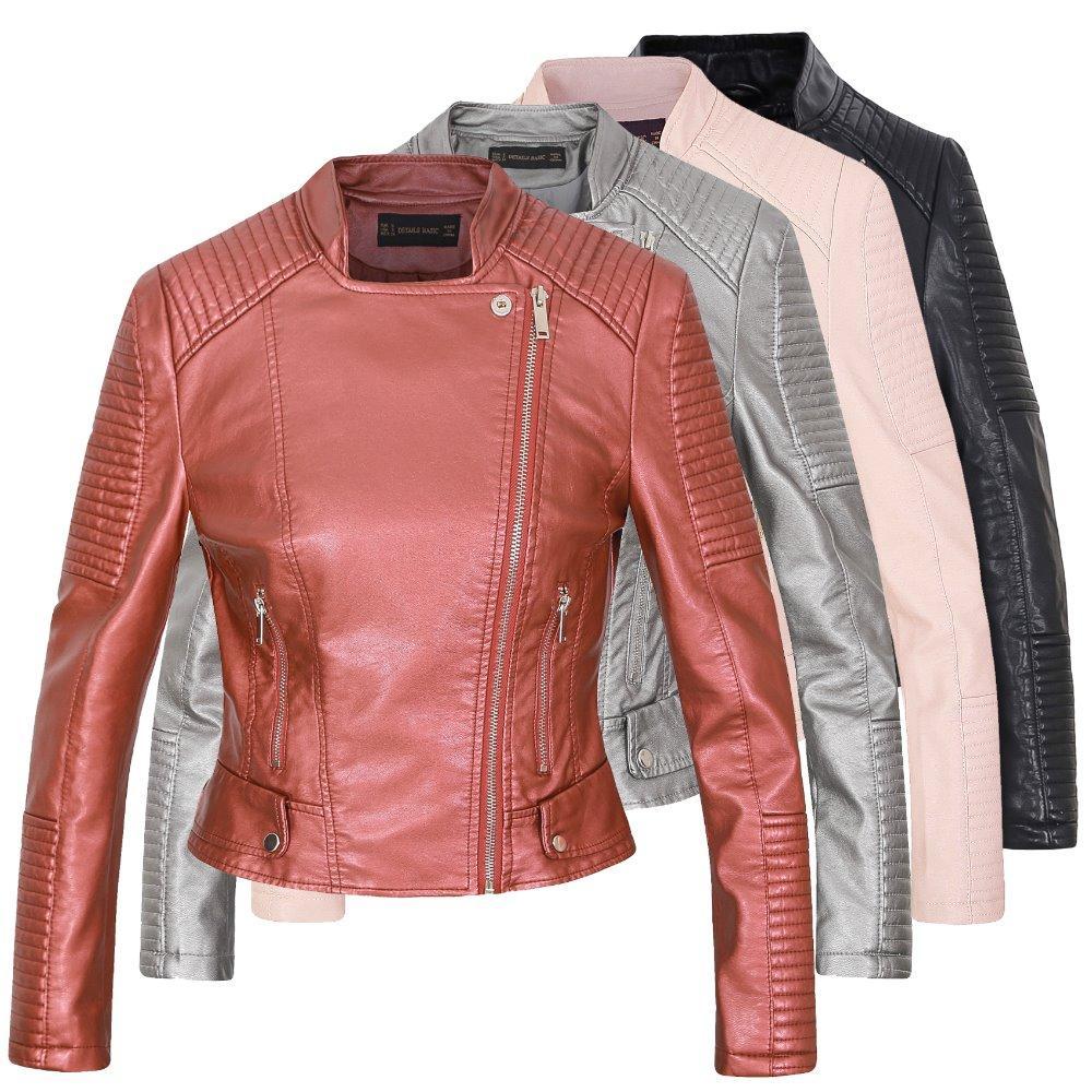 Blazer 2016 Mode Frauen Blazer Und Jacken Mesh Lange Hülse Dünne Blazer Pu Leder Kragen Kurze Blazer Frauen Oberbekleidung & Mäntel S2411