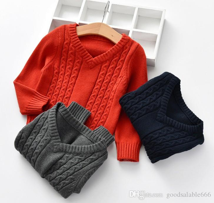 Fashion Kids Winter Simple Warm Pullover Sweaters Kids Christmas