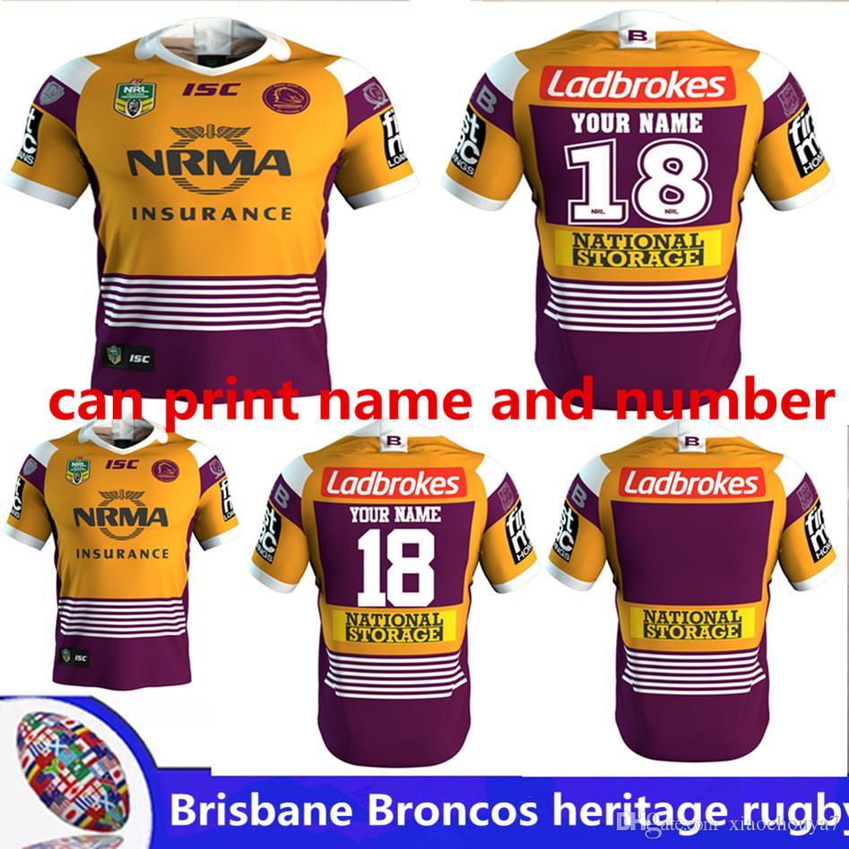 2018 NRL JERSEYS BRISBANE BRONCOS Heritage Rugby Brisbane Rugby ... 42043e9d5