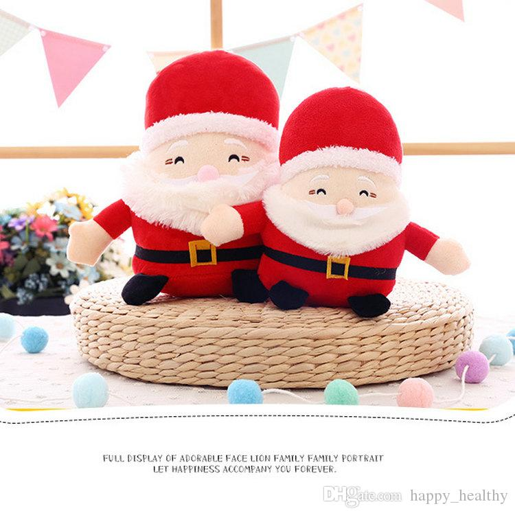 006 Christmas Santa Claus machine baby doll Plush Toys 20CM Ornaments Decoration For Home Xmas New Year Kids Gift Saint Nicholas toys