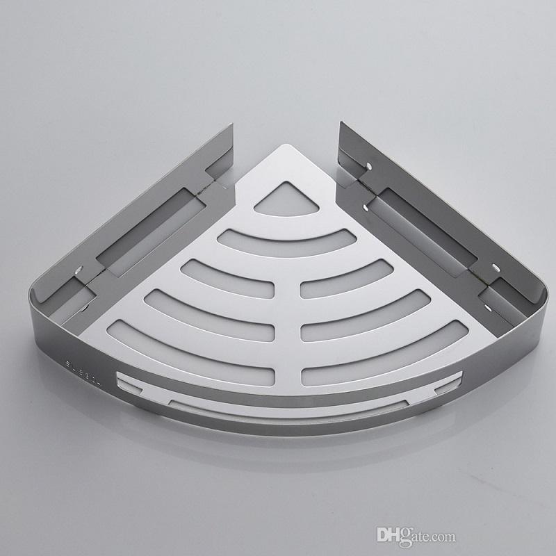 Compre Perforación Libre Baño Baño Estante 304 Inodoro De Acero Inoxidable  Cuarto De Ducha 2 Piso Baño Triángulo Cesta Colgante De Pared A  42.22 Del  ... 3b4433611815