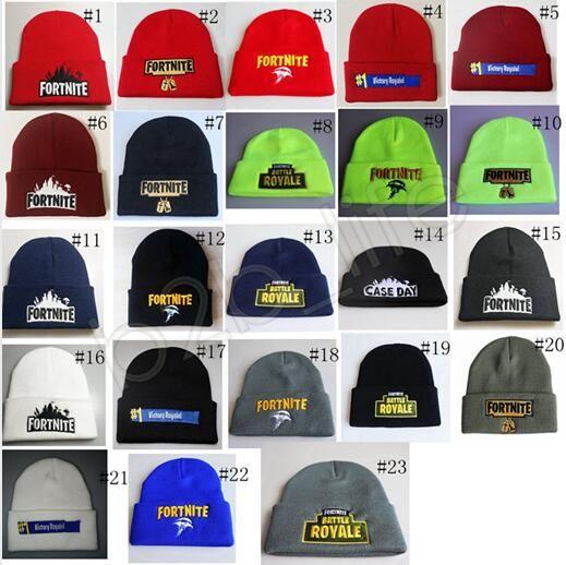 fortnite knit hats cap royale beanie winter warm skull cap fedora