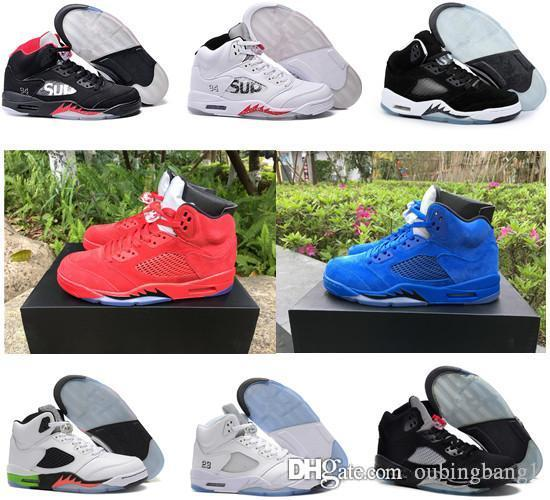 sale Inexpensive Cheap 5s 5 Olympic OG metallic Gold Raging Bull Red blue Suede Black Metallic Space jam Fire Red women basketball shoes sneakers clearance view order sale online NFkKnmMY