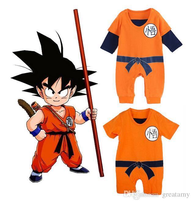 8512820ff2f8 2019 New Baby Romper Goku Dragon Ball Z Cartoon Infant Toddlers ...