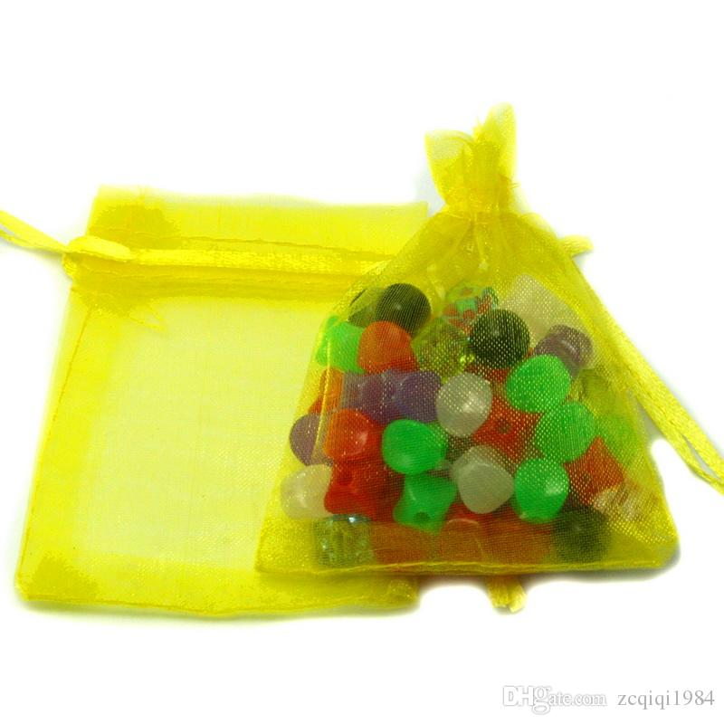 7x9cm بالجملة هدية عيد الميلاد جميلة مختلط لون الأورجانزا الحقيبة حقيبة المجوهرات هدية لمهرجان الزفاف