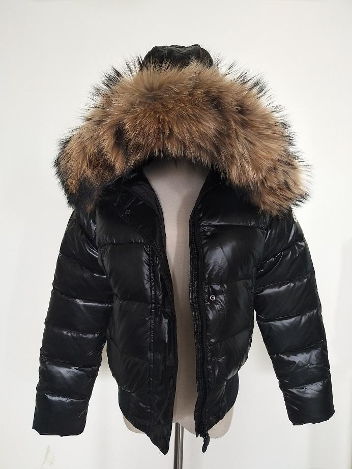 8dfea5db6d4 2019 M Women Down Jacket Thickening Short Down Parkas 100% Real Raccoon Fur  Collar Hood Down Coat Black/Red Color From Xiaowu555, $110.56 | DHgate.Com
