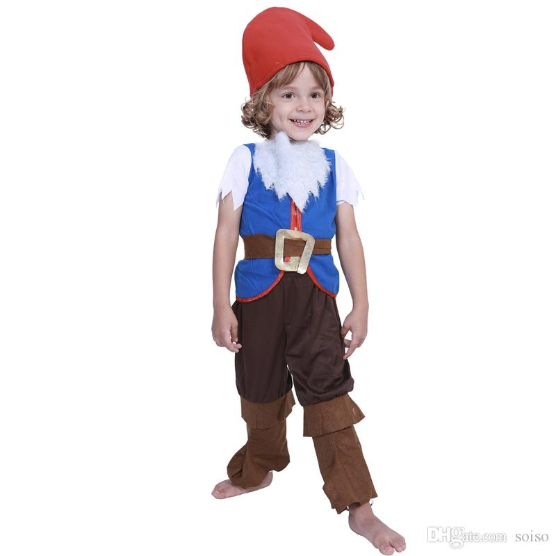 halloween costume cosplay mushroom christmas elf children show sets for kids girl boy mushroom elf costumes child christmas party carnival clever group