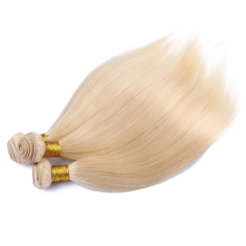 النقي # 613 شقراء الشعر البشري حزمة صفقات 3 قطع الكثير الجسم موجة التبييض شقراء البرازيلي العذراء الإنسان الشعر ينسج ملحقات لحمة مزدوجة