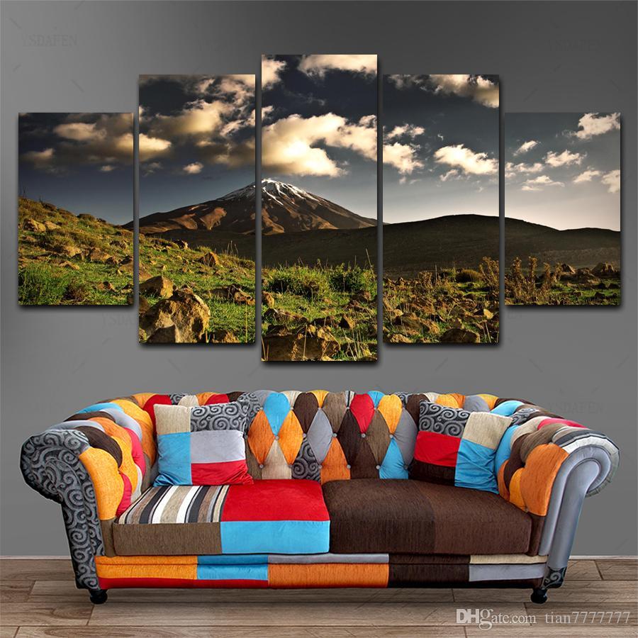 5 Unidades Paisaje Natural Montañas Pintura Sobre Lienzo HD Imprimir Paisaje de la Roca Cartel de la Foto Casa Decoración de La Pared Regalo de Arte Sin Marco