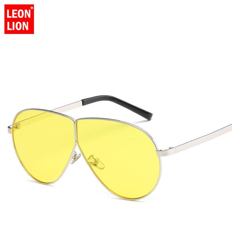 Acheter LeonLion 2018 Mode En Métal Grand Cadre Lunettes De Soleil Hommes  Miroir Lunettes Dame Lunettes En Métal UV400 Conduite Lunette De Soleil  Femme De ... 7d6fba0f73bc