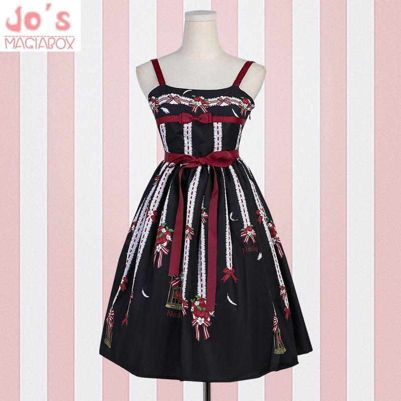 885a0bf28c734 2019 Women Sexy Gothic Lolita Dress Kawaii Tank Night Wear Vestidos Chic  Print Dress Cute Christmas Halloween Party Uniform From Macloth