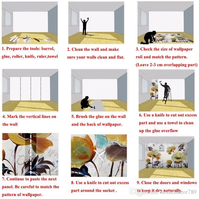 Özel 3D Lüks Duvar Kağıdı Zarif Çiçekler Fotoğraf Kağıdı Ipek Duvar Resimleri Ev dekorasyonu Büyük duvar Sanat Çocuk odası Yatak Odası Kanepe TV geri