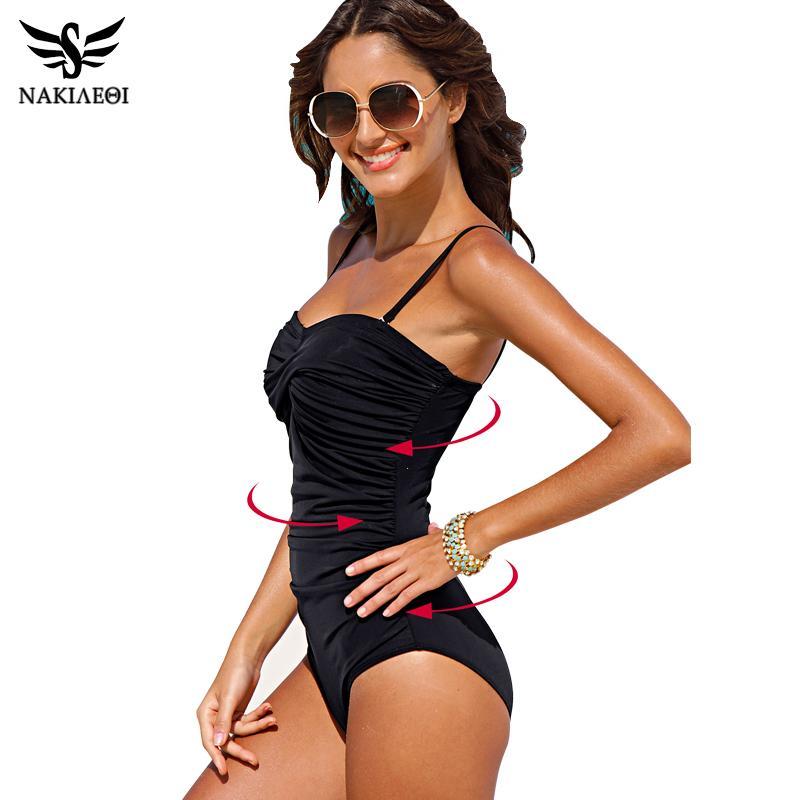 72edd51129354 Wholesale-NAKIAEOI One Piece Swimsuit 2017 New Plus Size Swimwear ...
