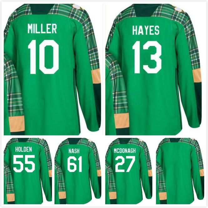 2018 Rangers St. Patricks Day 10 J.T. Miller Kevin Hayes 55 Nick ... cf6a7148e