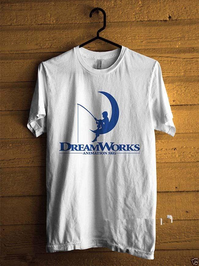 44cc9d1c Hot Selling 100% Cotton O Neck Dreamworks Dw Animation Studio White Short  Sleeve Office Tee For Men Cute T Shirts Nerd T Shirts From Topteeforprint,  ...