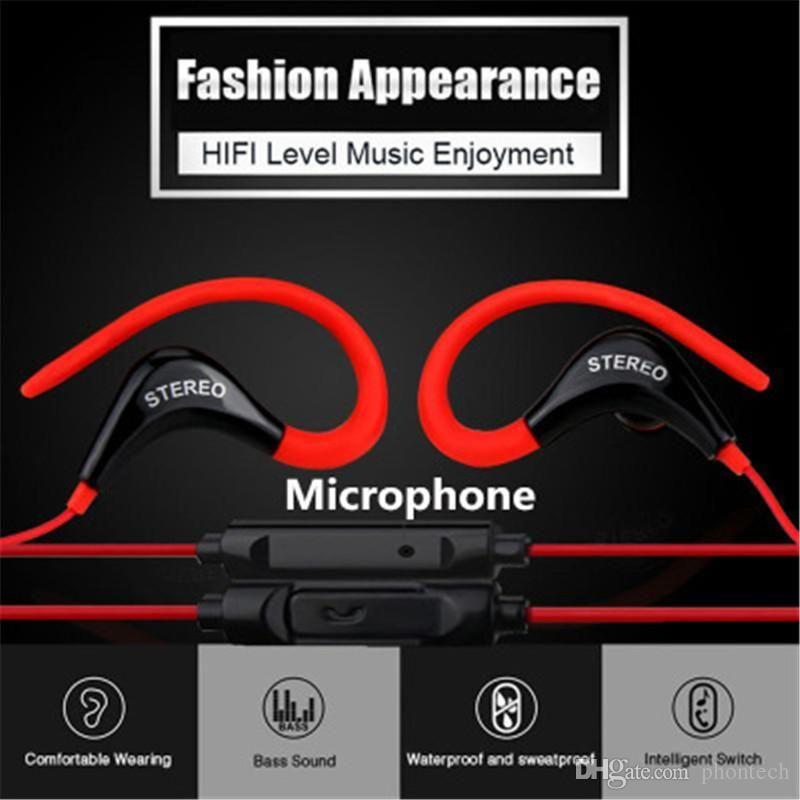 575f0df6b5d Auriculares Para Telefonos Auriculares Auriculares Estéreo In Ear Sport  Hook Hifi Auriculares Para Teléfonos Inteligentes Para Iphone Ipod Ipad Mp3  Mp4 ...