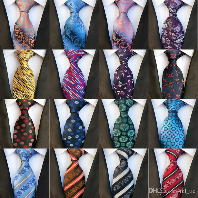 333e91408b8f 2019 New 8cm Fashion Ties Silk Tie Men Neck Ties Handmade Wedding Party  Gold Paisley Necktie British Style Business Ties Stripe Bow Tie Ties From  Ml_tie, ...