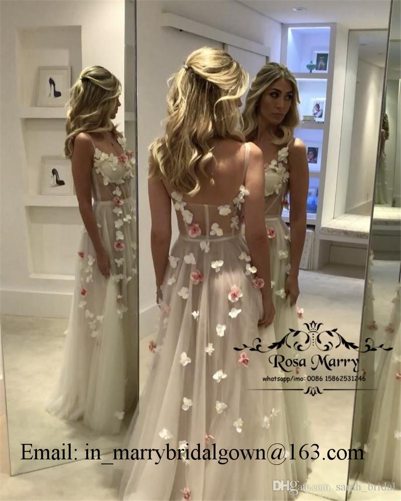 Prenses 3D Çiçek Ucuz Uzun Gelinlik Modelleri 2020 Bir Çizgi Illusion Korse Artı Boyutu Arapça Afrika Tasarım 2K19 Kızlar Örgün Akşam Parti törenlerinde