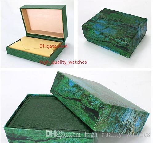 High Quality Perpetual Watch Box Papers File Card Green Gift Boxes Use President 116610 116660 228238 326938 116520 116710 116613 Watches