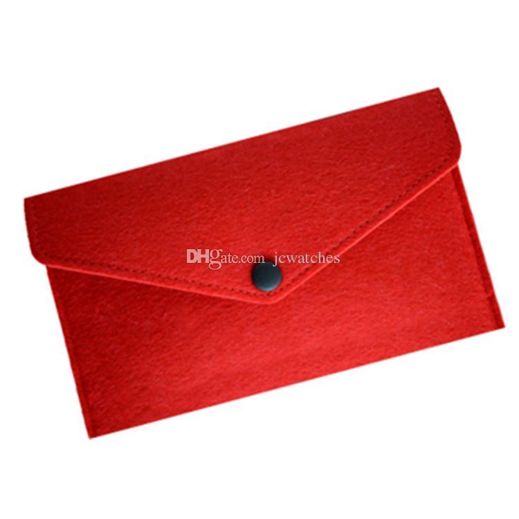 Funda de fieltro suave para cajas de teléfono de 5.5 pulgadas Bolsa de teléfono billetera con monedero Bolsa de dinero con ranura de tarjeta de crédito Cambio de bolsas de almacenamiento