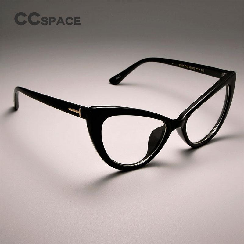 fe746806d2 CCSPACE Ladies Cat Eye Glasses Frames For Women Sexy Brand Designer Optical  EyeGlasses Spectacle Frames Rivet Eyewear Gold Eyeglass Frames Green  Eyeglass ...