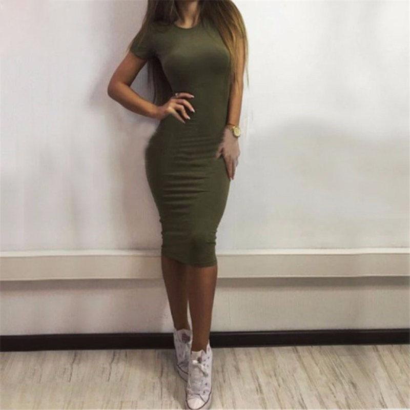 New Arrived Autumn Winter Dresses Sexy Office Dress Bodycon Dress Black Army Green Gray Party Dresses Fall Women Vestidos MT1155