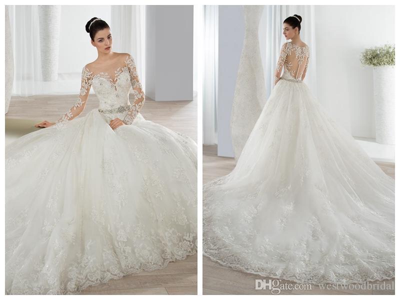 compre 2018 vestidos de novia robe de mari demetrios 648 sheer