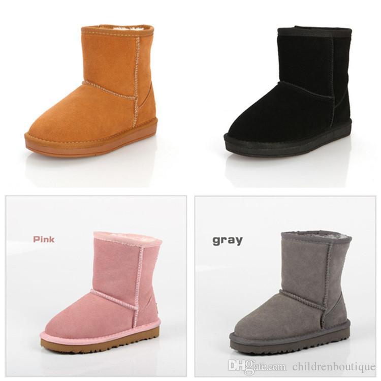 0fe446f14bb Compre Zapatos De Bebé Venta Caliente Australia Estilo Niños Botas Para La  Nieve Niños Impermeable Slip On Mantener Cálidas Botas De Algodón Niños  Niñas ...