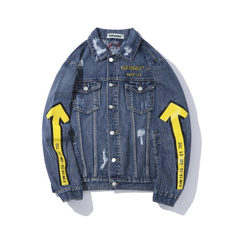 261364cffe80 Großhandel Mode Männer Aus New Weiße Jeansjacke Männer Designer Denim  Mäntel Männer Frauen Jacke Herbst Lässige Sportbekleidung Kleidung  Windjacke Mit ...