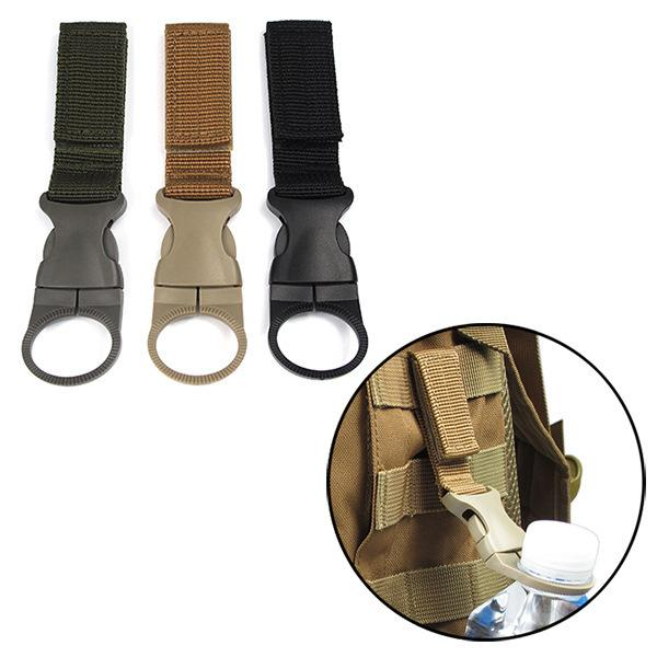 Nylon Molle Webbing Water Bottle Carabiner Belt Backpack Hanger Hook Outdoor Buckle Hook Holder Tool Clip Hunting Accessories