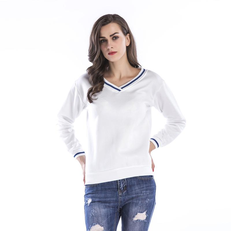 e8750986bdf7d Women Solid Color Tshirt Spring Fashion V Neck Long Sleeve Top Tee ...