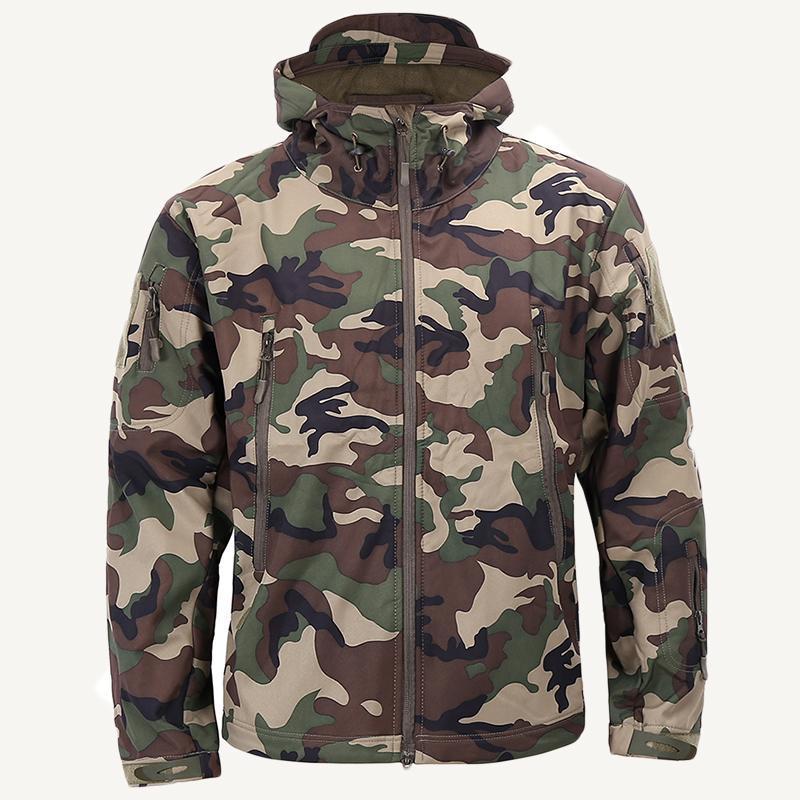 Männer Herbst Winter Jacke Armee Tactical Camouflage Soft Shell Jacken Lässige Windjacke Camo Wasserdichte Kleidung