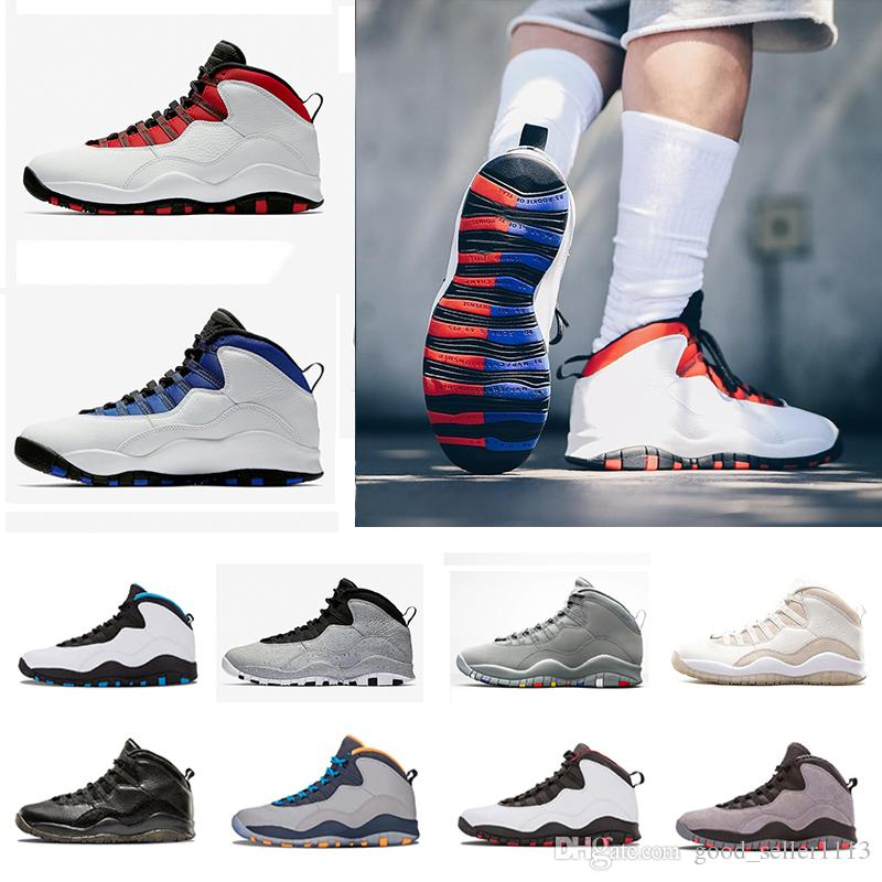 High Quality Mens 10 10s Basketball Shoes Westbrook Cement I m Back White  Black Bobcats Chicago Powder Blue Outdoor Sports Sneakers 10 Sports Shoes  ... 783f0f506