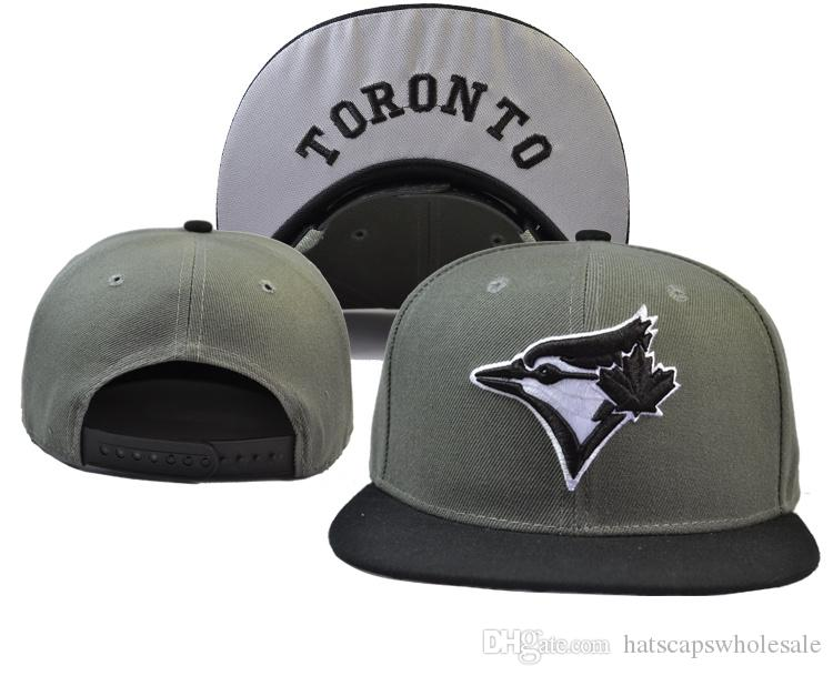 d77fa95ef82 New Toronto Gray Color Snapback Hat Team Logo Embroidery Sport Baseball  Flat Caps Hip Hop Chapeaus City Name Under Brim Cool Hats Lids Hats From ...