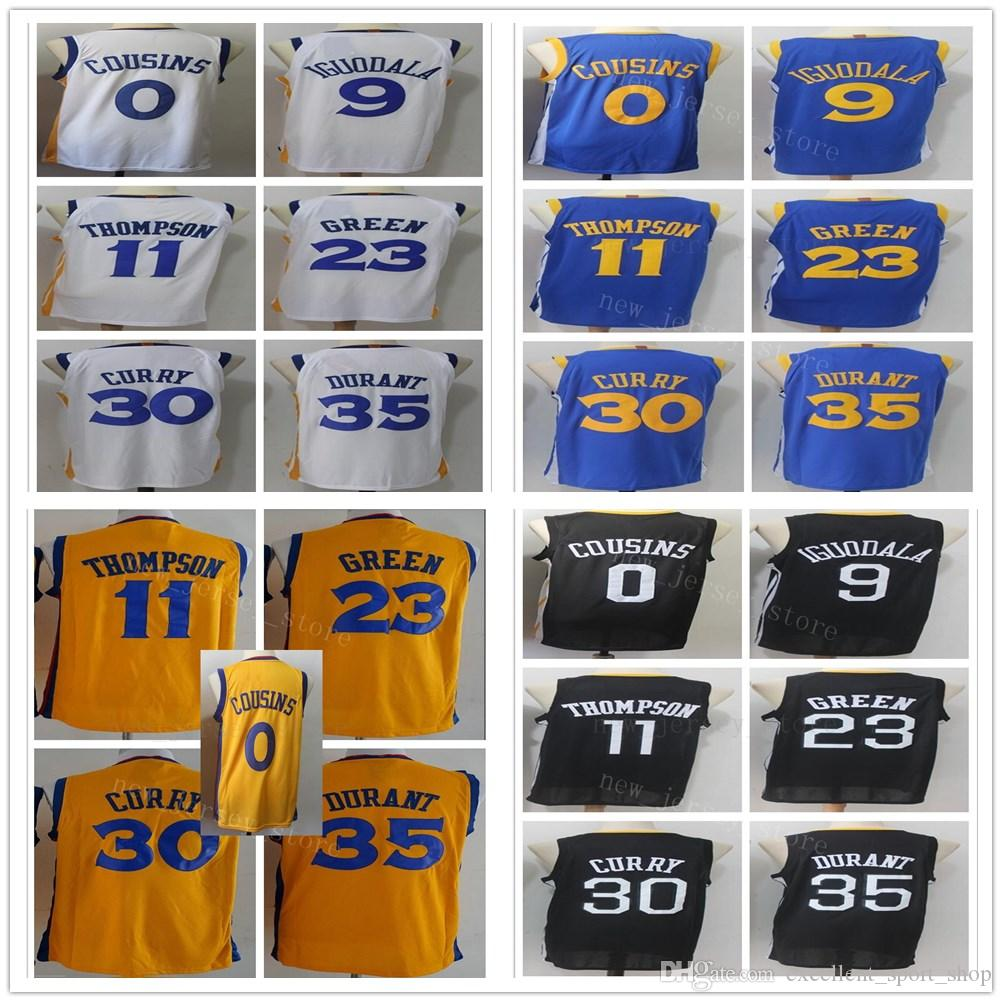 dc21fcba8 College Yellow City Edition  30 Stephen Durant Curry Kevin Jersey DeMarcus  Klay Cousins Thompson Andre Draymond Iguodala Green Jersey Shorts Durant  Kevin ...