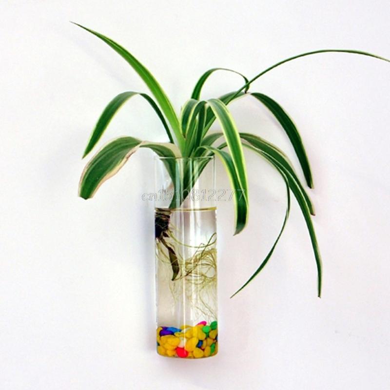 Wall Hanging Glass Flower Planter Vase Plant Pot Terrarium Home