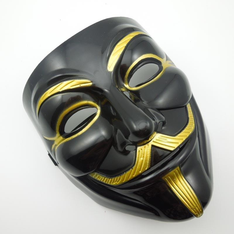 Black V For Vendetta Party Cosplay Masque Mask Anonymous Guy Fawkes New Fancy Costume Accessory Macka Mascaras Halloween Mask