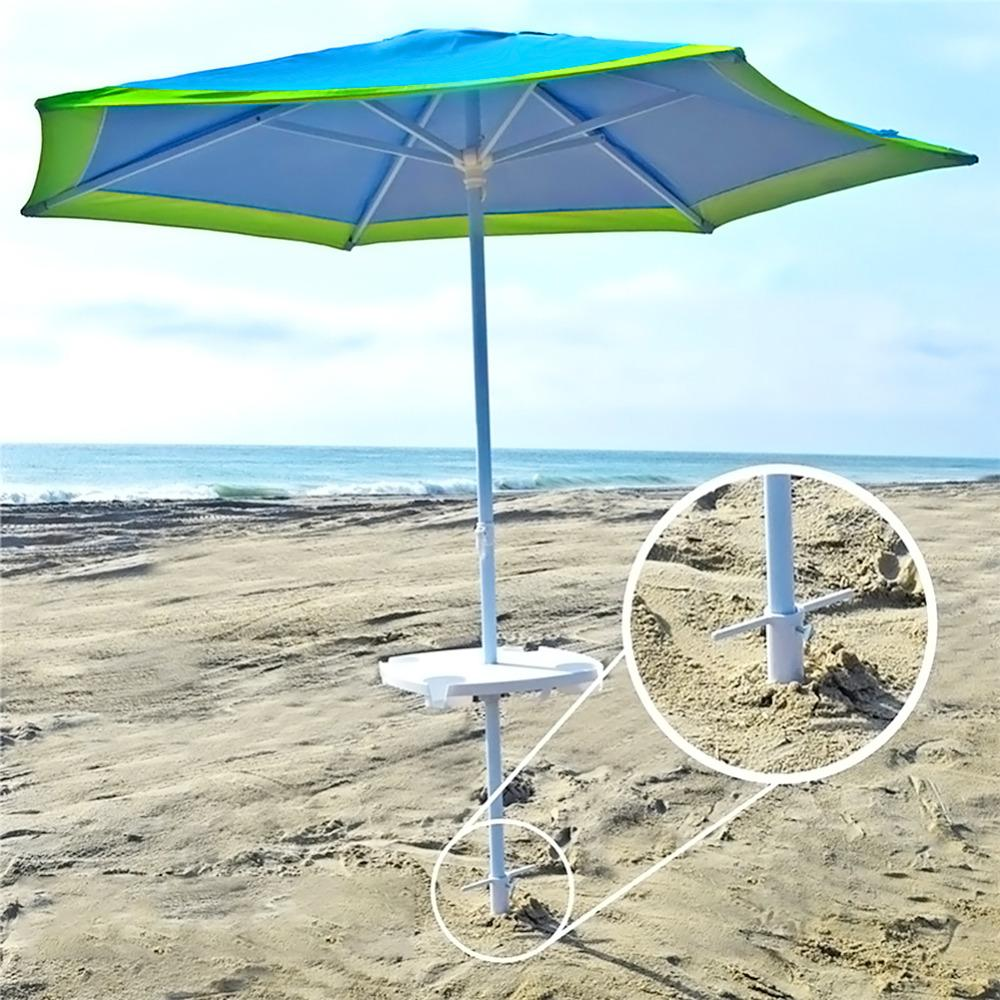 Sun Beach Garden Patio Umbrella Holder Parasol Ground Anchor Spike Fishing  Stand