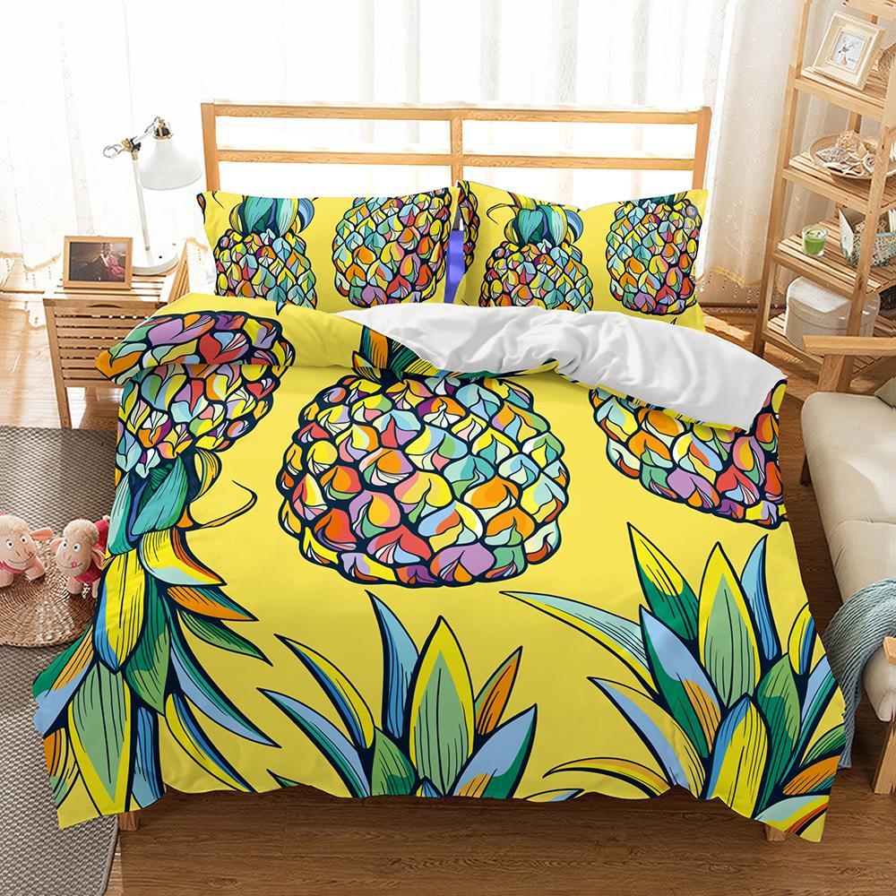 Großhandel Nette Karikatur Ananasblumen Muster Home Living Kind
