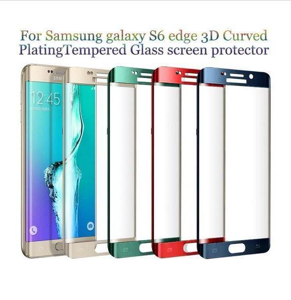 For S8 S8plus Note 8 Full Cover Curved Glass S6 S7 Edge 3D Curved Screen Protector tempered glass With Retail box