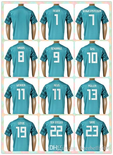 size 40 645c7 e11c8 reduced germany 1 neuer away soccer country jersey fd9a3 e279f