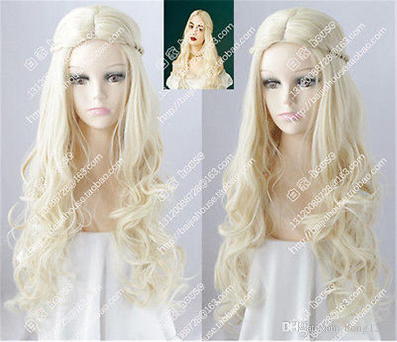 Großhandel Cosplay Perücke Weiße Königin Alice Im Wunderland 2