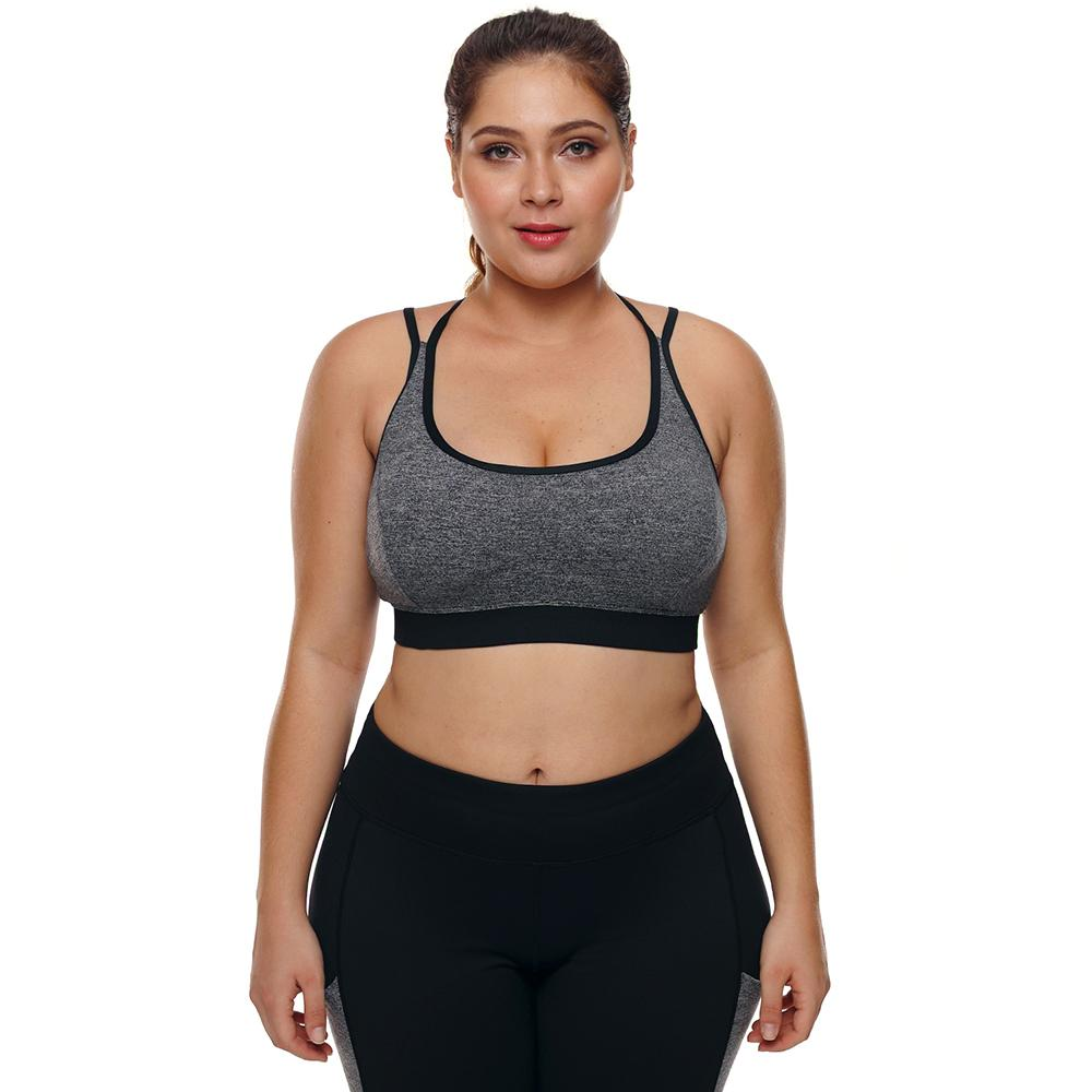 fda9415effb 2019 Sports Bra Plus Size Top For Fitness Big Size Female Sport Brassiere  Push Up Cross Padded Running Yoga Workout Sport Bra 2018 From Pothos