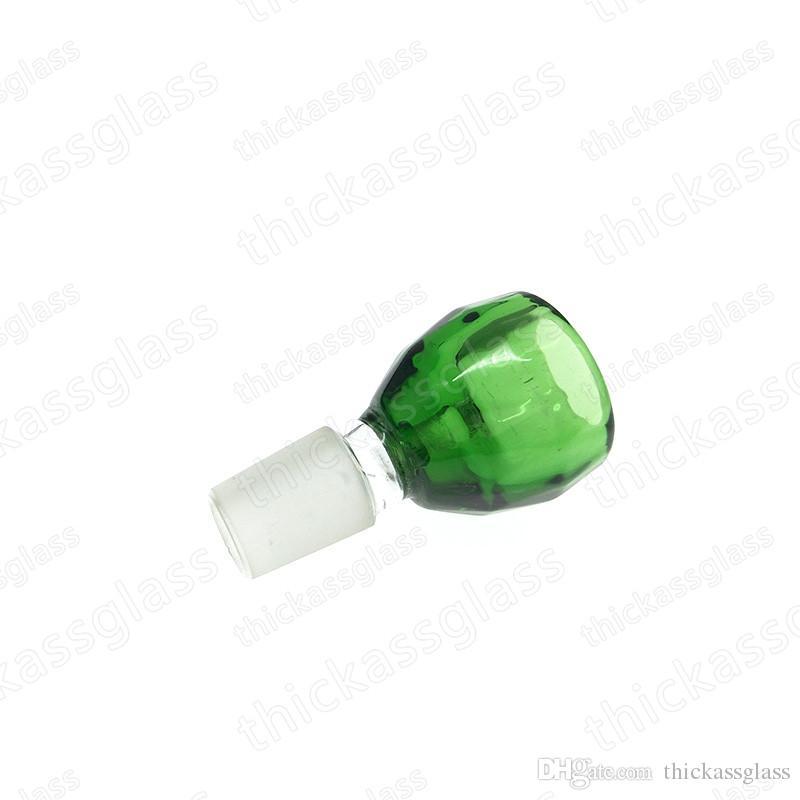 Хорошее качество красочный мужской сустав стеклянная чаша для стекла бонги стекла бонг водопроводные трубы 14.4 мм 18.8 мм