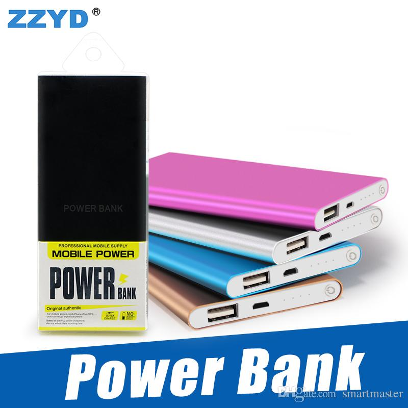 ZZYD Portable Powerbank ultra sottile slim powerbank 4000mAh caricabatterie per telefono cellulare S8 Tablet PC Batteria esterna
